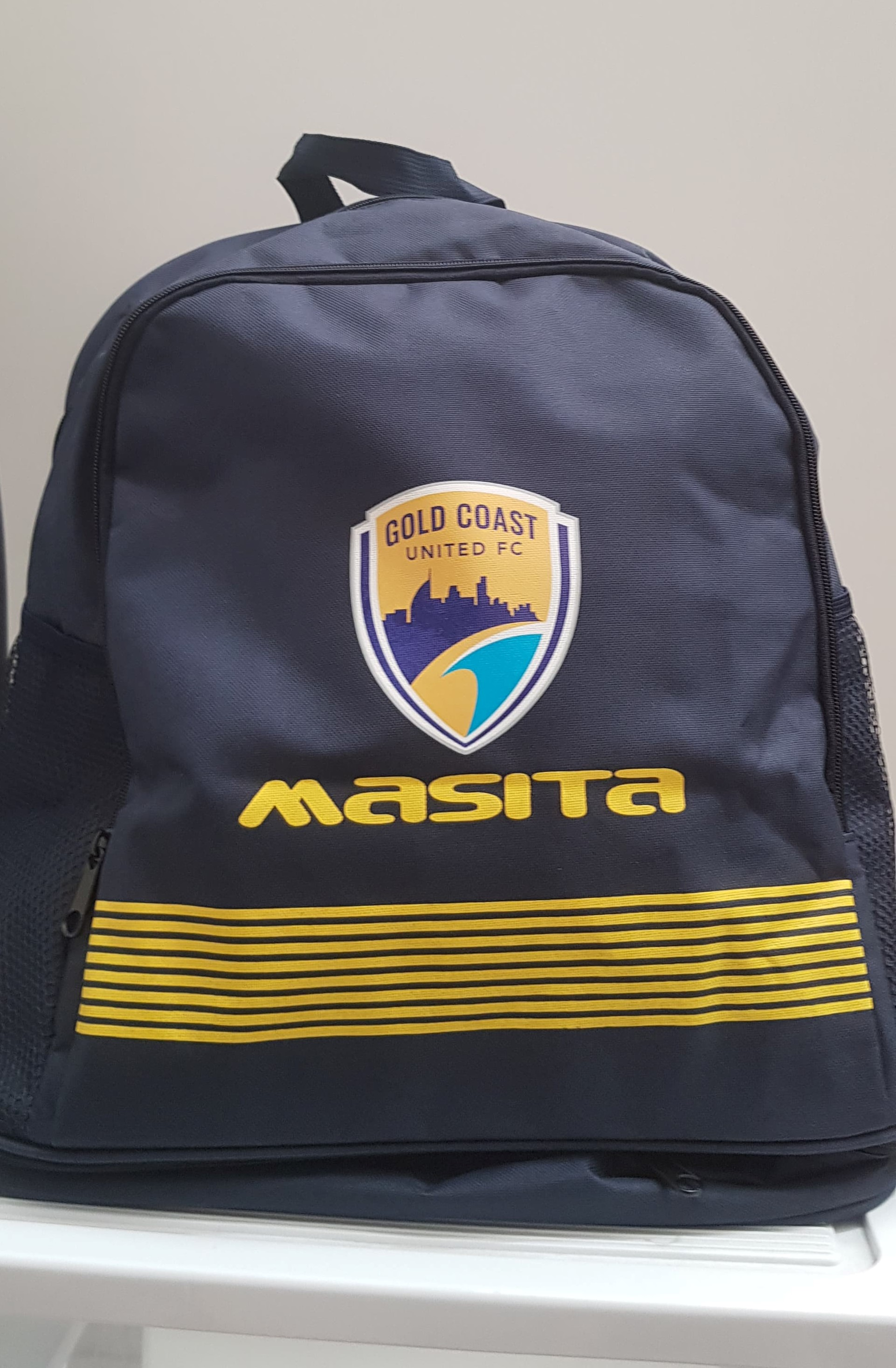 Gold Coast United Brasil Backpack With Shoe Compartment