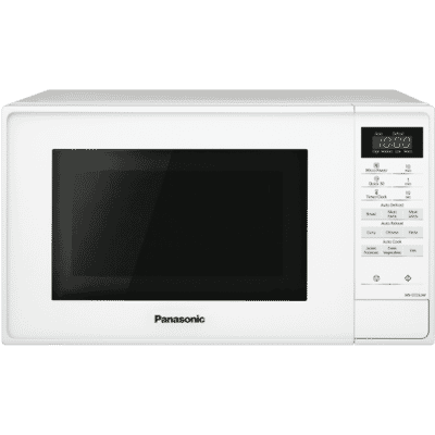 20L White Compact Microwave