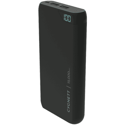 ChargeUp 15,000 mAh Dual USB Powerbank - Black